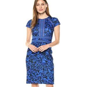 Tadashi Shoji | Cap Sleeve Neoprene Floral Dress